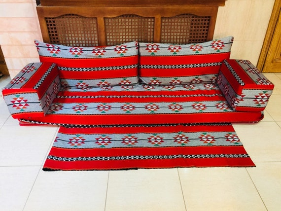 Traditional Ethnic Motiffed for your Room Area RugWall Tapestry Arab Tablecloth for home and Cafe HOOKAH Lounge Arab Seating JALSA