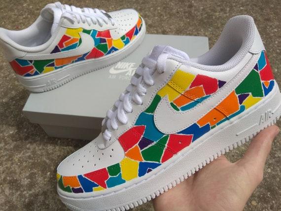 Custom Nike Air Force 1, Colorful Sneaker, Custom sneaker , Custom nike, Custom shoe, Nike air force 1, Custom air force 1