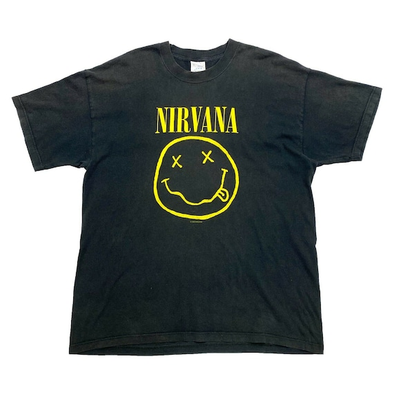 Nirvana Smiley Face Flower Sniffin Tshirt | Vintag