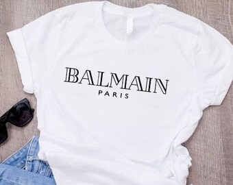 322c31ee Balmain Paris T-Shirt Balmain Paris Inspired Tee Balmain Paris Top  Christmas Gift Birthday Gift Fashion Shirt, Unisex shirt