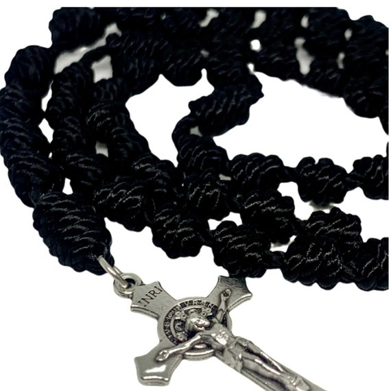 Black Rope Rosary