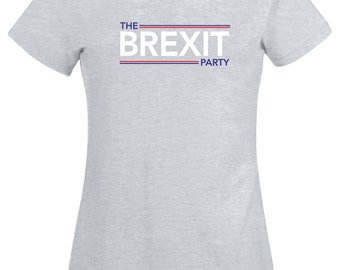 964034e7 The Brexit Party T Shirt EU European Elections 2019 UK Nigel Farage Fans  Leave Means Leave No Deal Summer Birthday Gift Women Ladies Tee Top