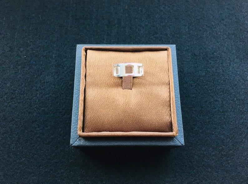 Sterling Silver Vintage Holed Band Ring
