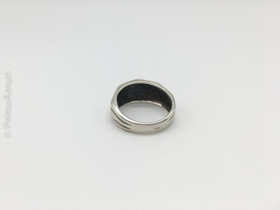 Vintage Dutch Modernist Sterling Silver Nut Shaped Ring  Gift for Her and Best Friend