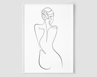 Figure Line Drawing Etsy