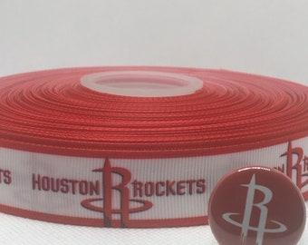 Houston Rockets Grosgrain Ribbon
