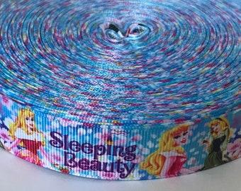 New 1 Metre Aurora Print Grosgrain Ribbon Designer 22mm Cakes Bow Dummy