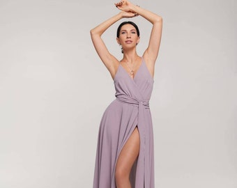 Dark emerald silk cold shoulder A-line maxi wrap dresswedding guest dressbridesmaid dressevening dressprom dressformal dress