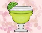 Margarita Glass Cookie Cutter, Cinco De Mayo, Day Of Dead