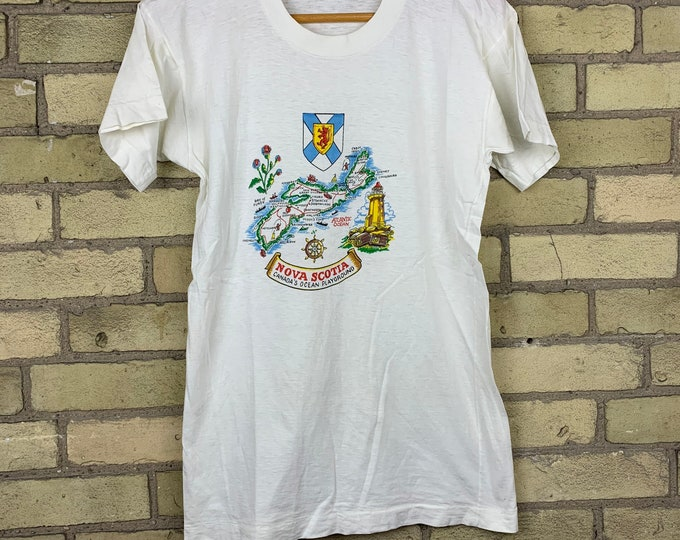 Vintage 70s Nova Scotia Canadas Ocean Playground T-Shirt