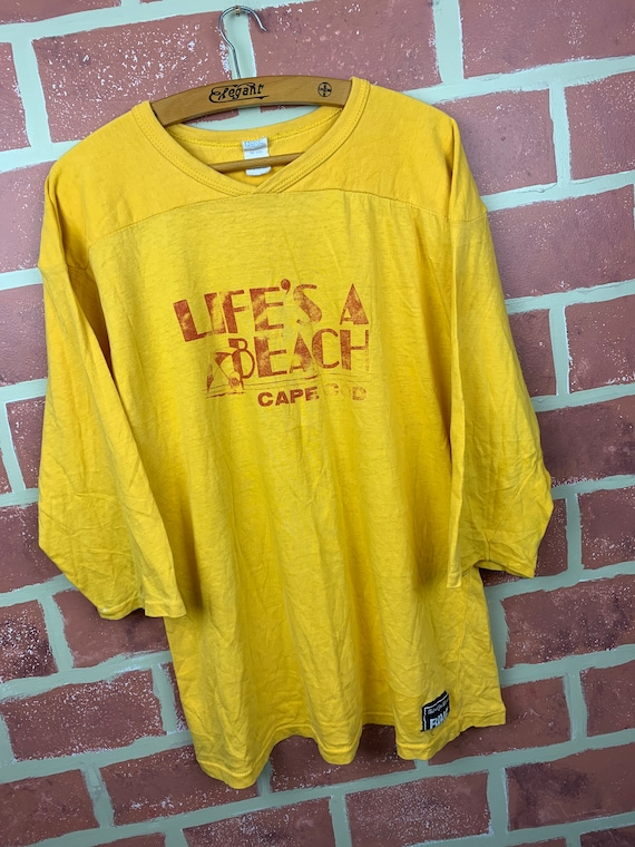 Vintage 70s Life's A Beach Cape Cod Jersey Style S