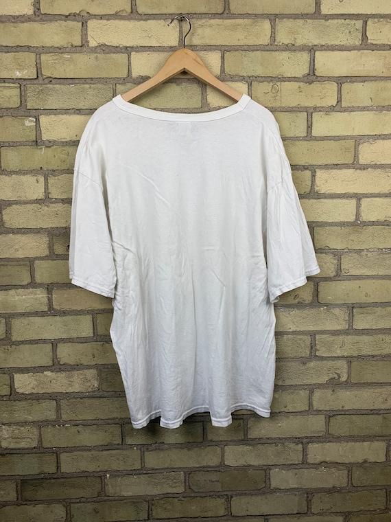 Vintage 90s Champion Blank White T-Shirt - image 4