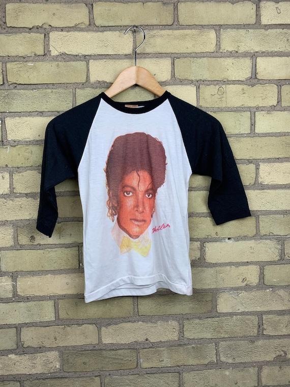 Vintage 80s Michael Jackson Thriller Raglan Baseba