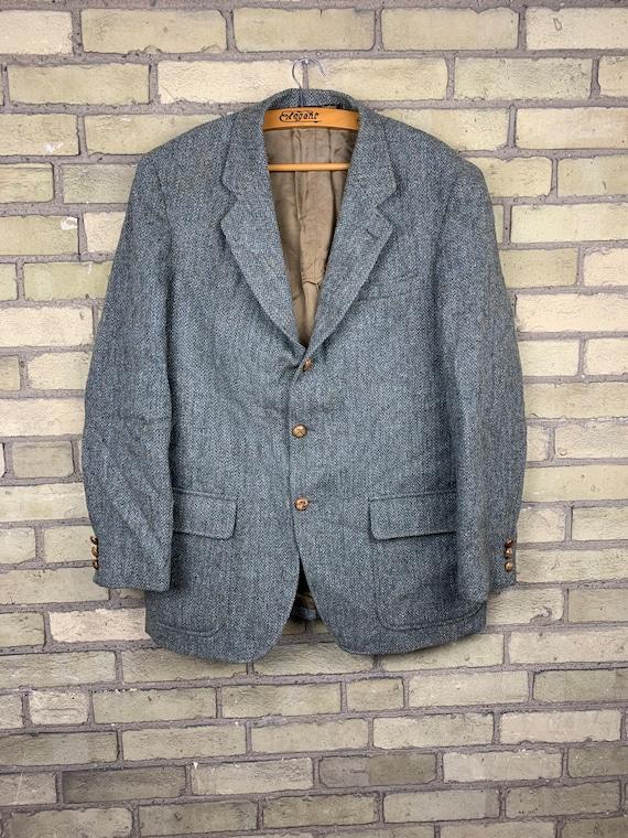 Vintage 60s Orvis Harris Tweed Mens Hunting Jacket