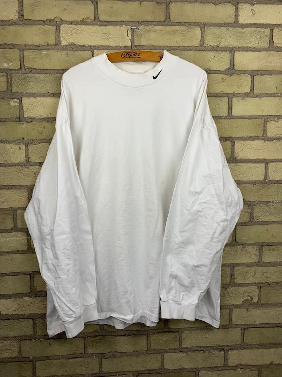 Vintage Nike Simple Swoosh Mock Neck Long Sleeve T