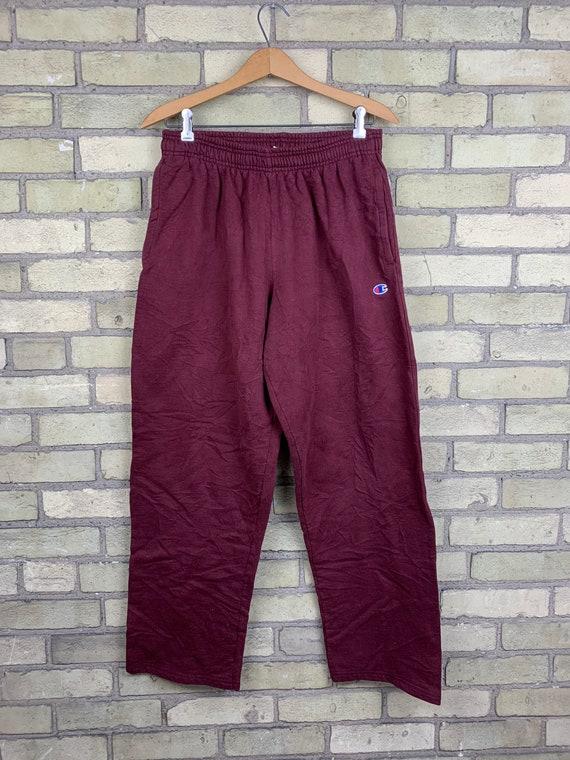Vintage Champion Burgundy Sweatpants
