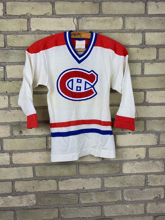 Vintage 70s Montreal Canadians NHL Hockey Jersey