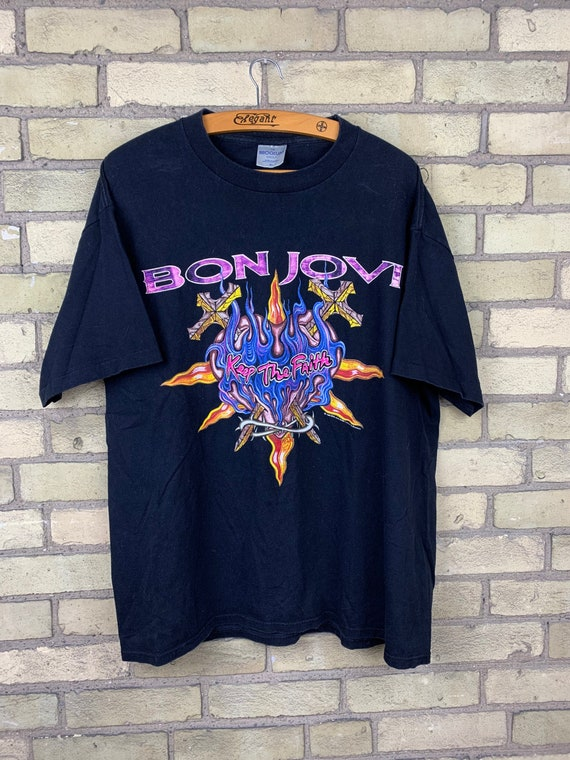 Vintage 90s Bon Jovi Keep The Faith Tour T-Shirt B