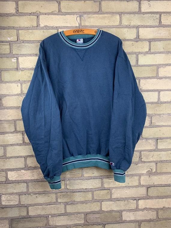 Vintage 90s Green Champion Crewneck Sweater