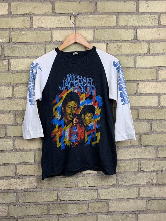 Vintage 80s Michael Jackson Thriller Raglan Style