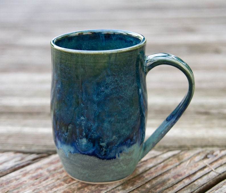 photo of handmade pottery mug