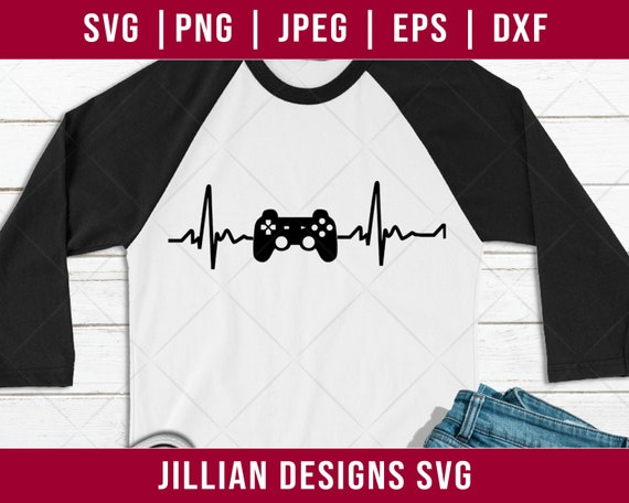 Game Heart Beat Svg Living Gamer Svg Gamer Svg Xbox Svg Etsy