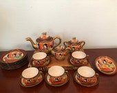 Antique Japanese Satsuma Dragonware Tea Set