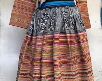 Adult Hmong Vietnam skirt wide 34\u201dlong 43\u201d