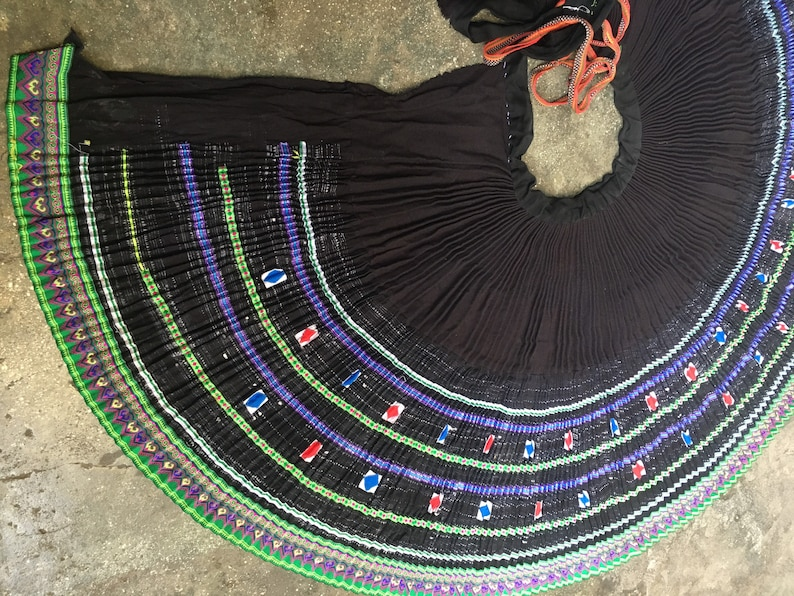 652 Vintage Hmong skirt