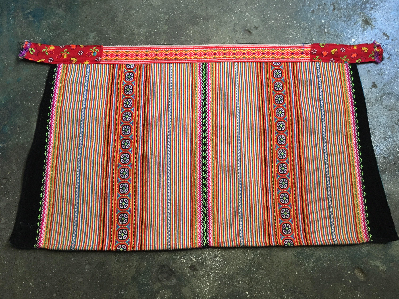 Vintage Aprons, Retro Aprons, Old Fashioned Aprons & Patterns Vintage Hmong Apron  382A $10.00 AT vintagedancer.com
