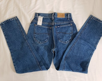 15b82770 Vintage Deadstock Lee High Waisted Medium Wash Petite Jeans