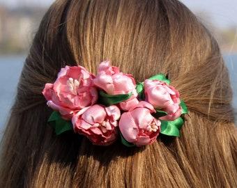 Hair jewelry * Sakura-Branch *-hair blossom, flower for hair, Kanzashi, wedding
