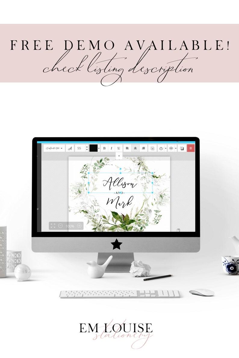 Navy Blue Wedding Invitation Suite Instant Download Watercolour DIY Wedding Templates Printable Wedding Invitations Winter Wedding