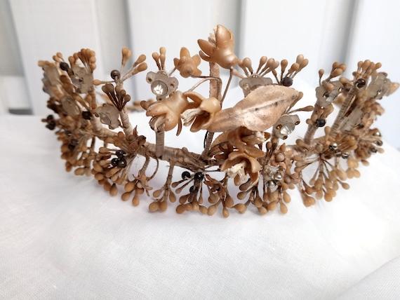 Antique wedding crown/vintage crown /old bridal cr