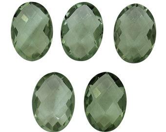 EVE435 Green Amethyst Fancy Cushion Briolettes 12mm Nice Quality Green Amethyst Fancy Carved Cushion Briolettes