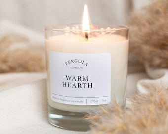 Candle Soy - Warm Hearth  - Scented Soy Candle - Handmade Candle - Natural Candle - Vegan Candle - Dried Flowers