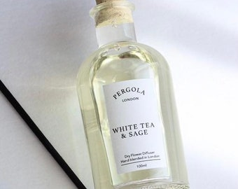 Diffuser Reed - White Tea Sage - Scented Diffuser - Natural Diffuser - Vegan Diffuser - Dried Flowers