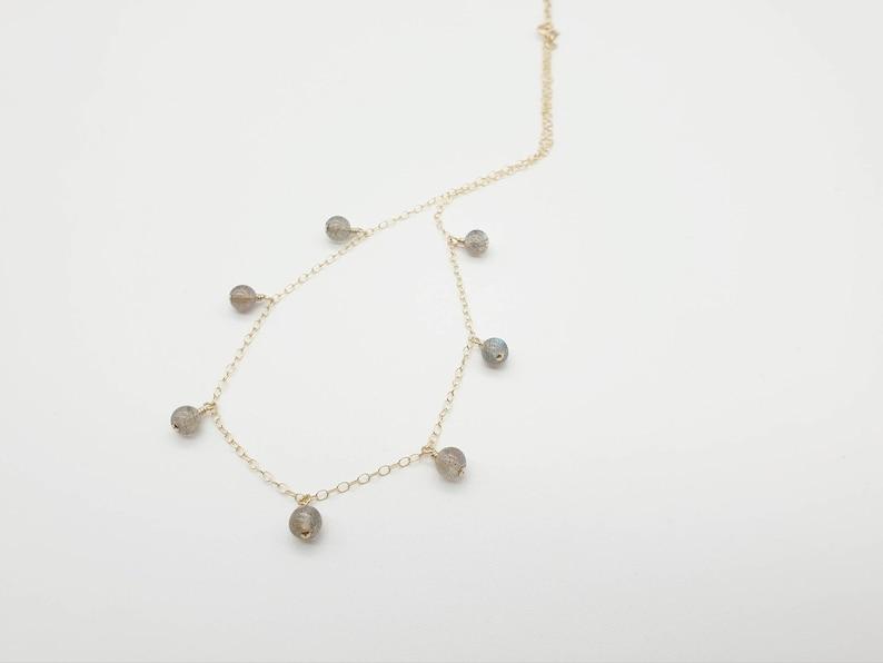 Sterling Silver 14k Rose Gold Fill \u2219 Gemstone Choker Dainty Labradorite Choker Necklace \u2219 Boho Labradorite Choker Necklace \u2219 14k Gold Fill