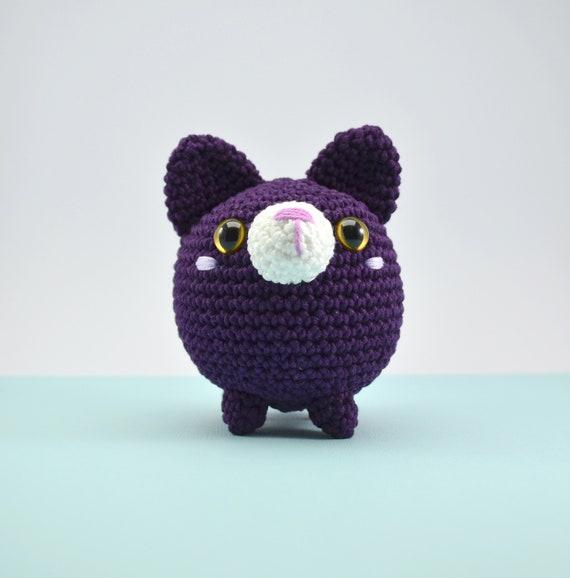 Stuffed stress ball, crochet cat, blue cat toy, Amigurumi cat ... | 578x570