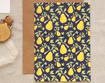 Autumn cards, pear card