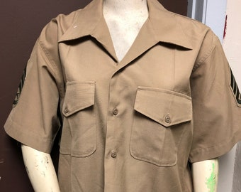 3603a743868 Brown Military Shirt for Army Costume, Size Large, Perfect for Military  Cosplay, Haunted House, Halloween Costume, military surplus