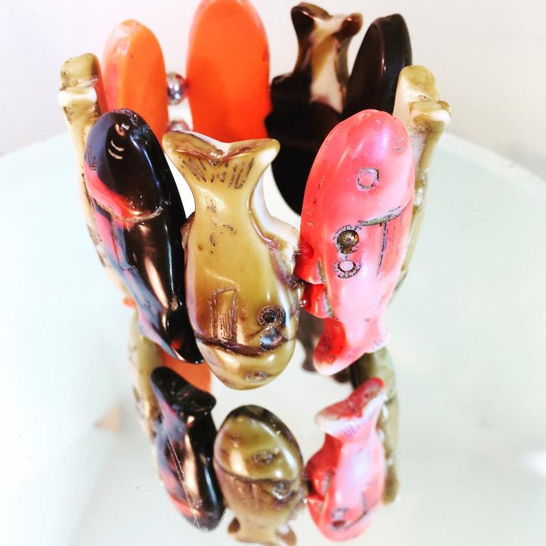 Rare Donatella Pellini vintage  fish bracelet