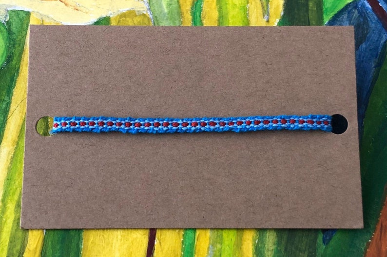 boho hippie anklet Fine Woven Anklet blue thread anklet blue thread anklet anklet for Men.
