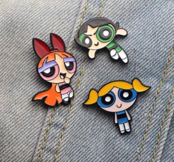 Powerpuff Girls Button Badges retro tv