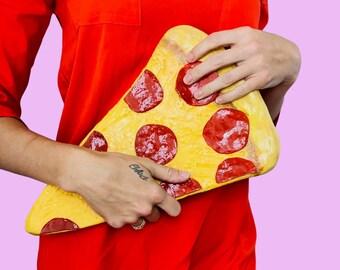 Realistic Pizza Slice Purse Pepperoni Pizza Purse Clutch Wearable Art Pizzabag Realistic Pizza Purse Pizza Handbag