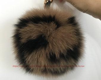 2513b1990d018 Fur ball keychain | Etsy