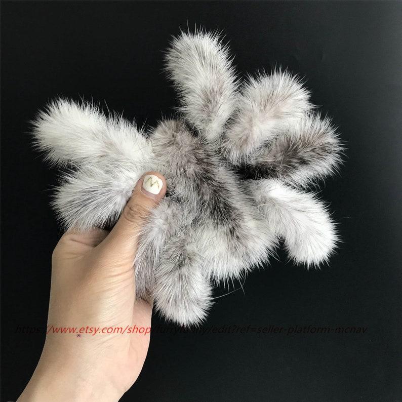 18cm Spider Real Mink fur Soft Cute Toy Keychain Bag Charm Car Keyring