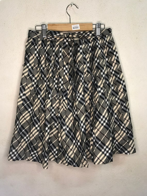 Vintage Burberry Pleated Skirt Nova Check