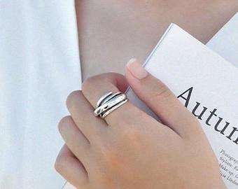 f6aa3de383cde Silver thumb ring | Etsy