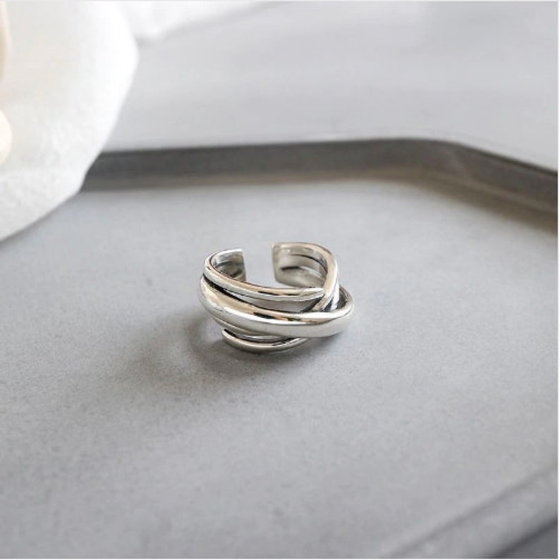 Statement Ring Silver Wrap Ring Chunky Ring Twisted ring Adjustable Ring Sterling Silver Ring